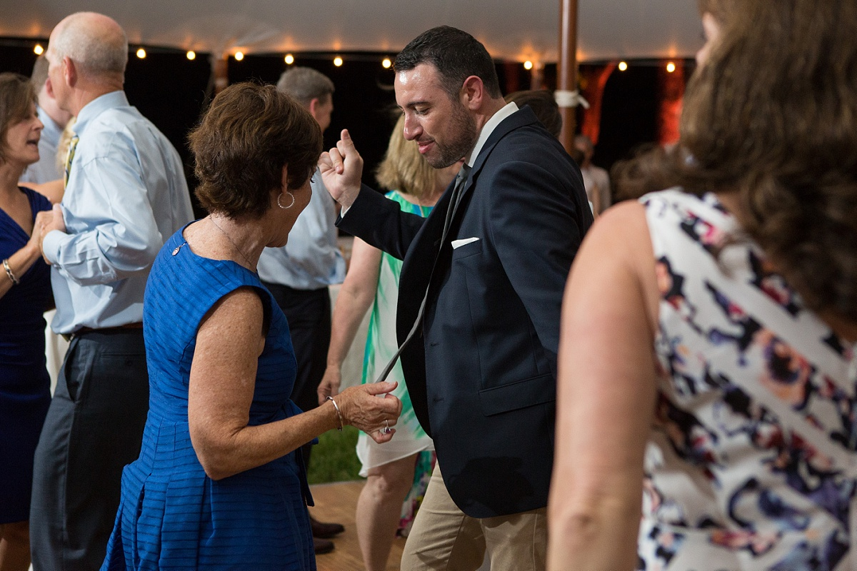 Guests Dancing at sly45 wedding